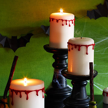 Halloween Drip Candles DIY