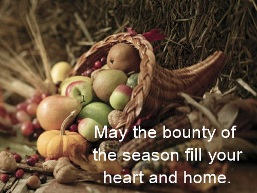 Fall's Bounty Message