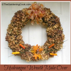 Dried Hydrangea Wreath Make Over