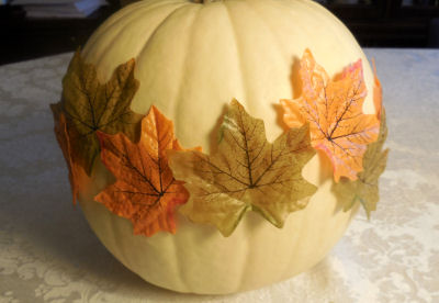 Leaves on the pumpkin