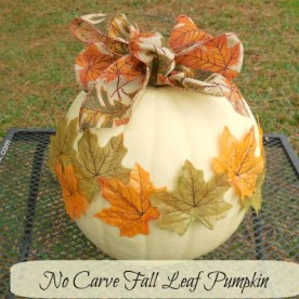 No carve Autumn Leaf Pumpkin