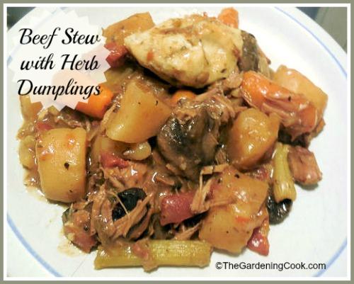 Crock Pot Beef Stew with Herbed Dumplings