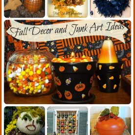Halloween Junk art and home decor projects from the Garden Charmers