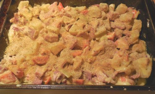 casserole with sauce