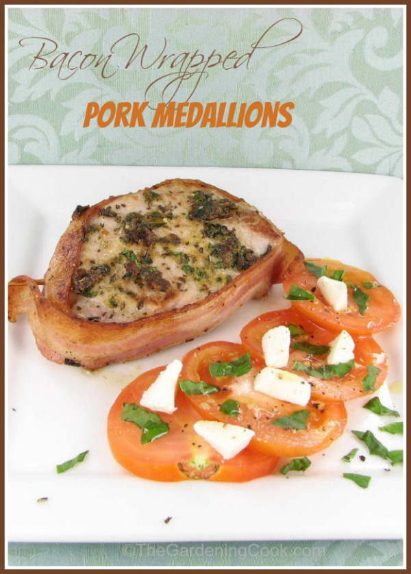 Bacon Wrapped Pork Medallions - The Gardening Cook