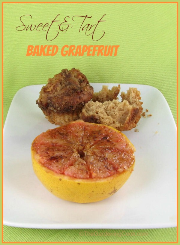 Baked Grapefruit with brown sugar, cinnamon and cloves. A morning delight!