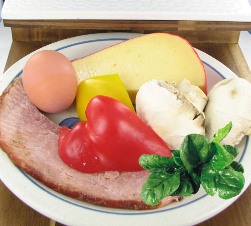 ingredients for egg muffins