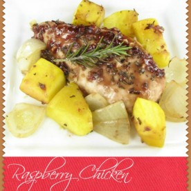 Raspberry Chicken with Roasted Rosemary Squash