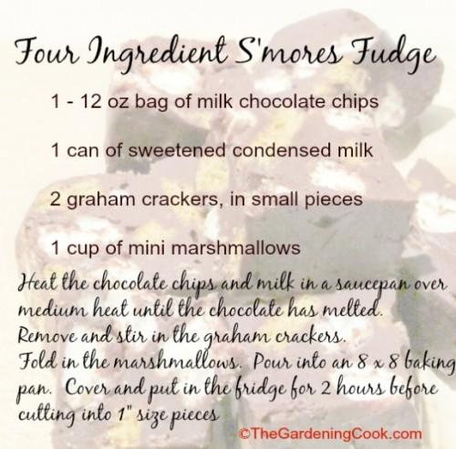 Four ingredient S'mores fudge