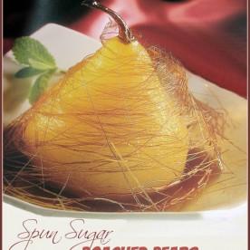 Spun Sugar Poached pears