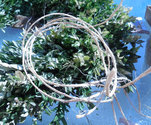 twine for the ornaments.