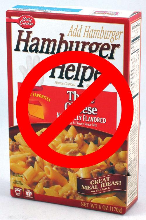say no to Hamburger helper