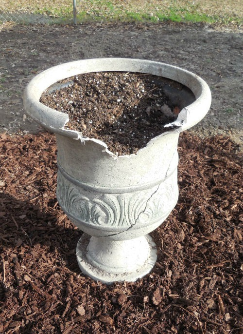 This damaged urn will be the focal point of my path design.