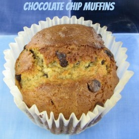 These jumbo bakery style chocolate chip muffins are great for a special occasion brunch