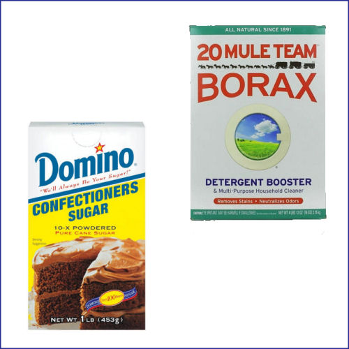 confectioner's sugar and Borax as an ant killer