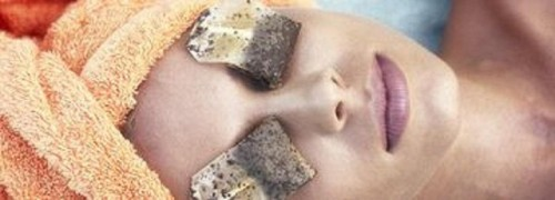 use tea bags to soothe eyes