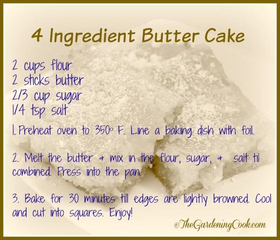 4 ingredient Butter Cake