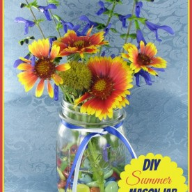 This DIY summer mason jar vase project is perfect for my summer brunch table. See the tutorial at thegardeningcook.com/