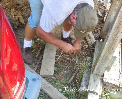 Jacking up a playhouse