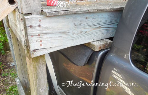 planks of wood give the playhouse something hard to sit on.