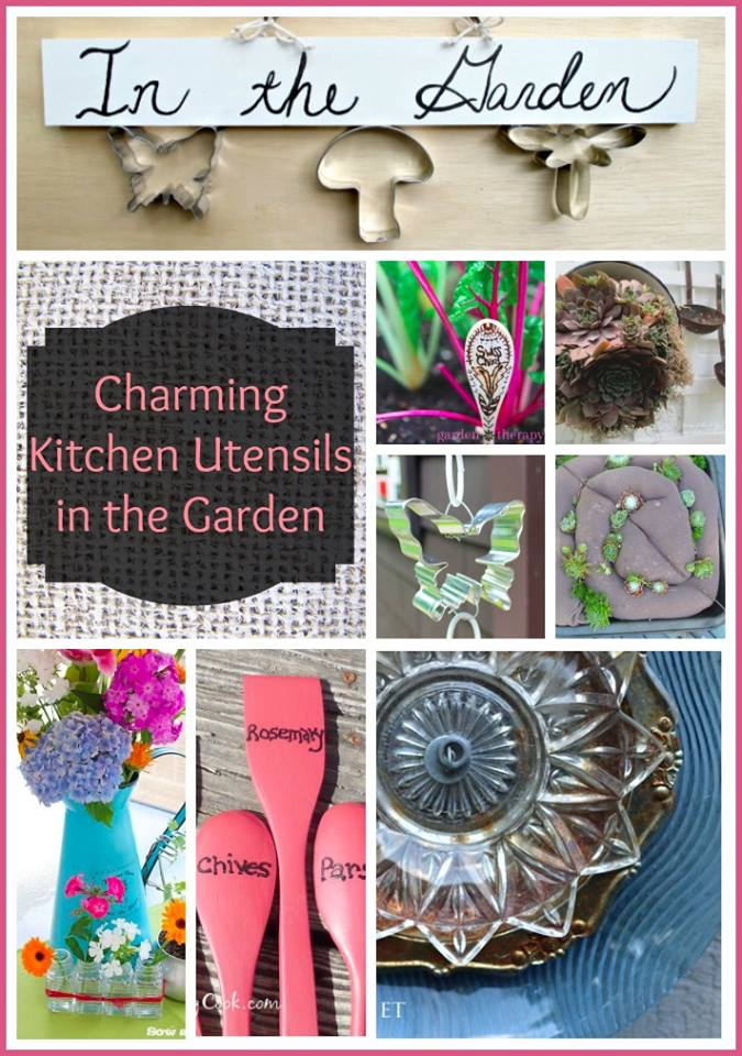 Recycling Kitchen Utensils into garden art: the gardeningcook.com