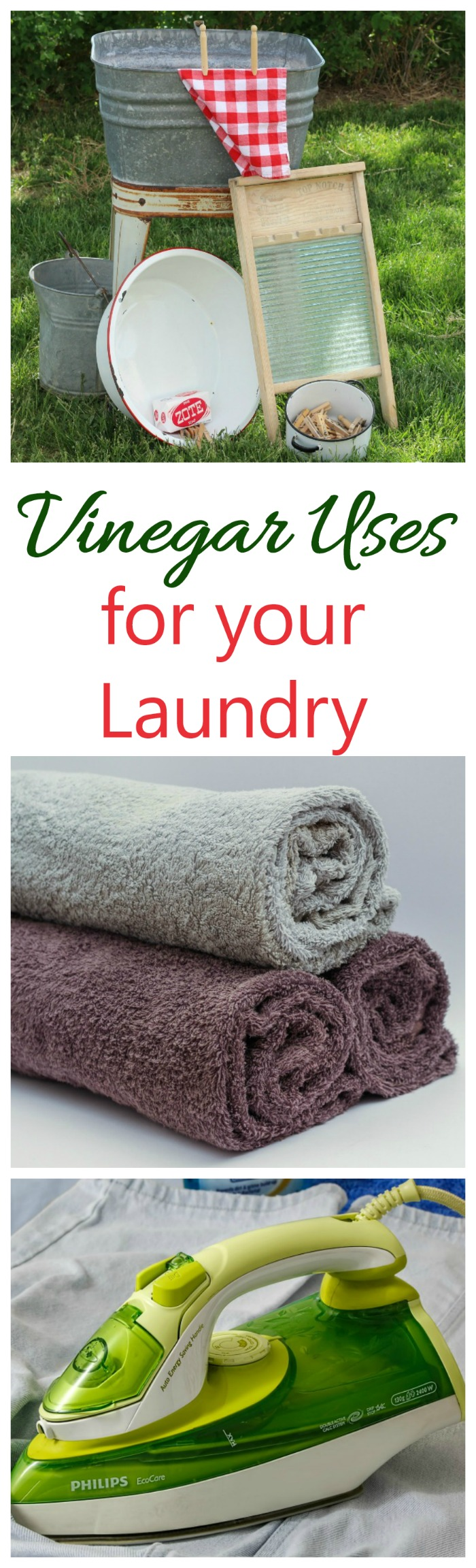 Vinegar can be used in many ways to clean your laundry