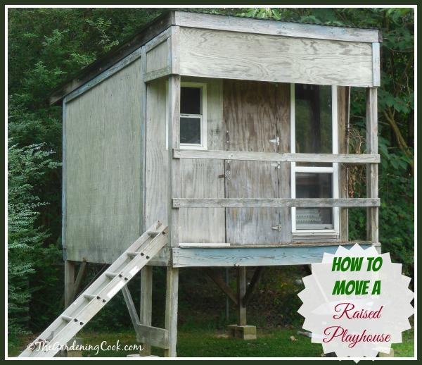 How to move a raised playhouse:  http://thegardeningcook.com/move-raised-playhouse/