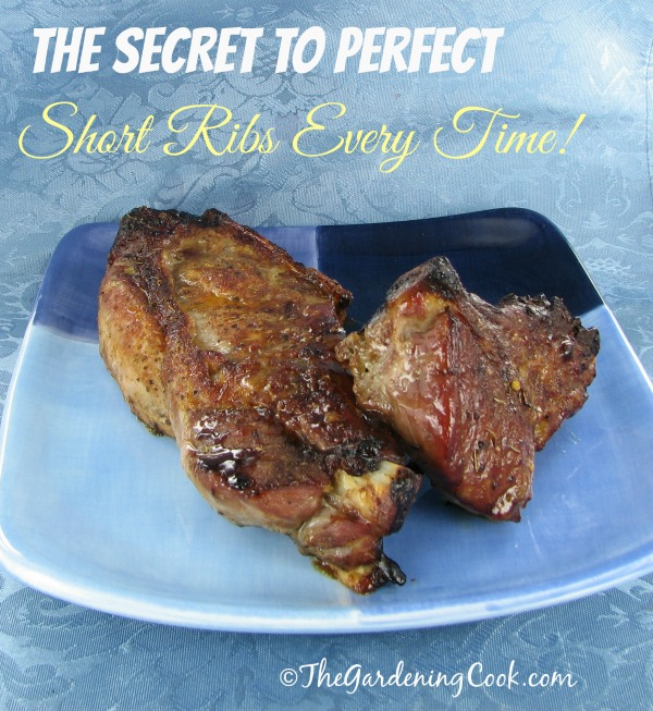 The secret to perfect BBQ short ribs every time:  thegardeningcook.com/perfect-bbq-short-ribs