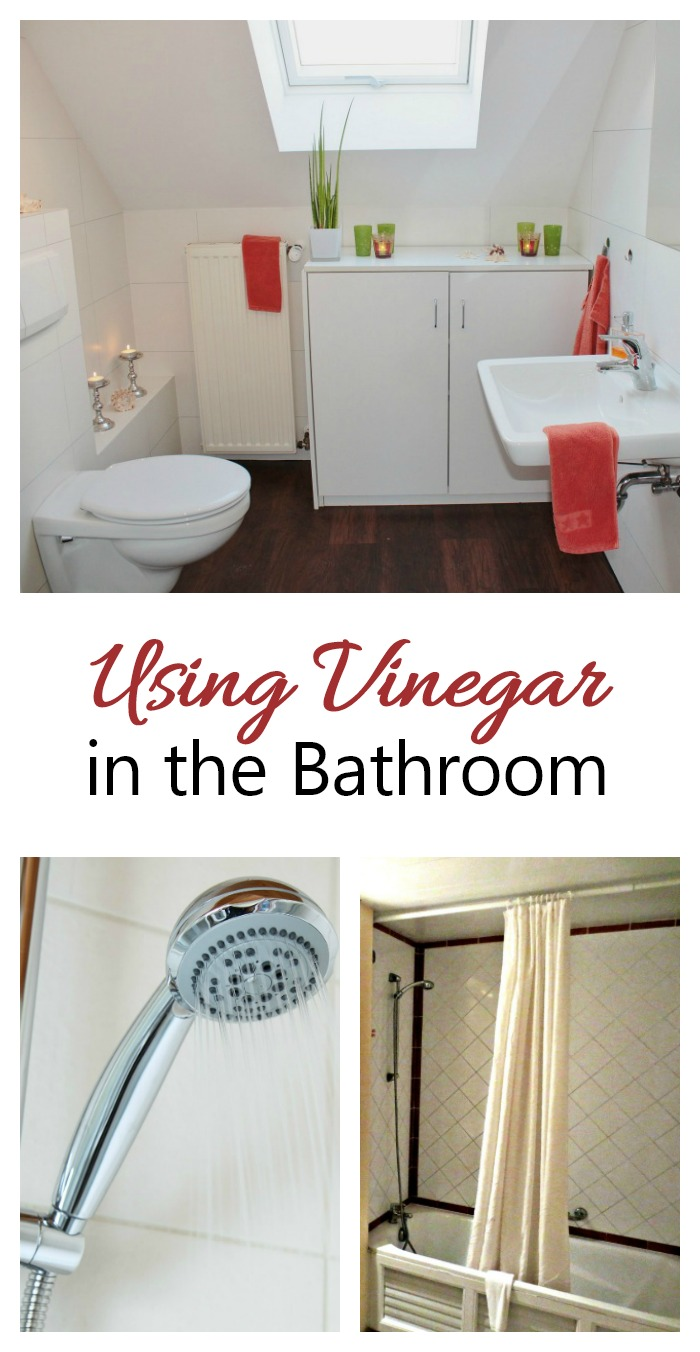 The bathroom is a place where vinegar has many uses