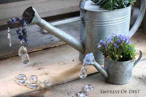 Watering Can DIY garden art