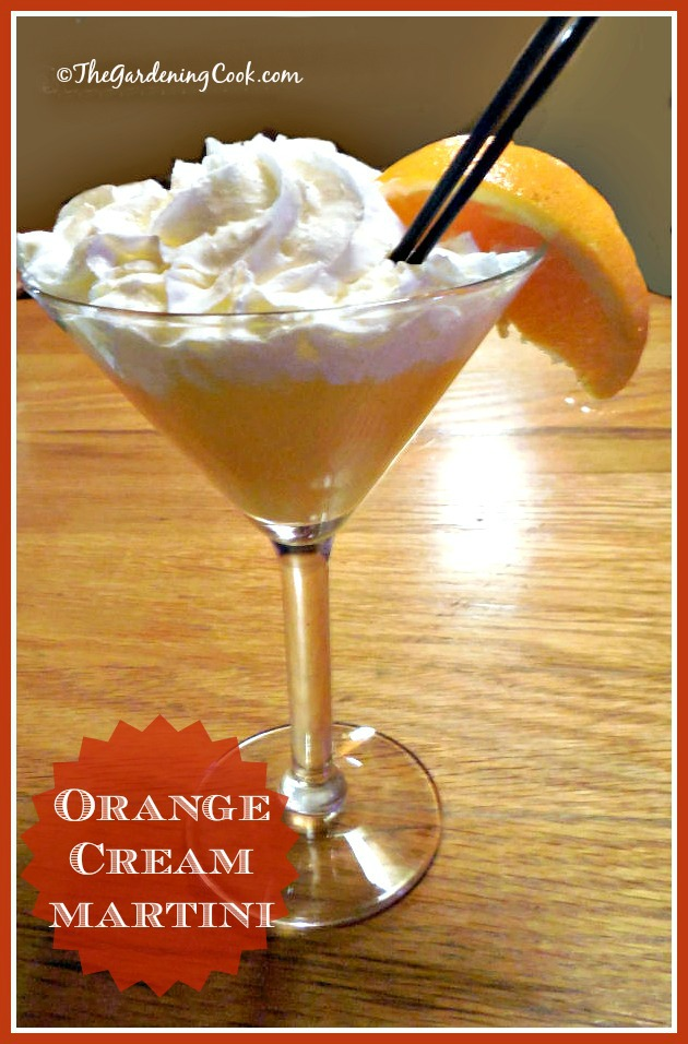 Orange Cream Martini - when you feel like being a grown up kid