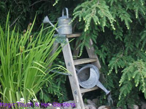 Watering Can Garden Feature