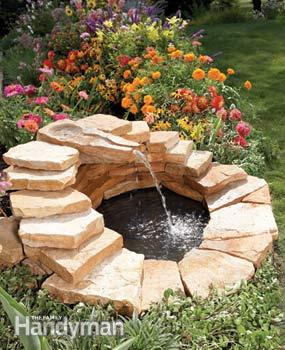 Fountain made from slabs