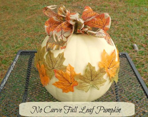 No Carve Autumn Leaf Pumpkin