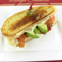 Decadent Lasagne sandwich