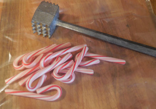 a meat tenderizer will crumble the candy canes