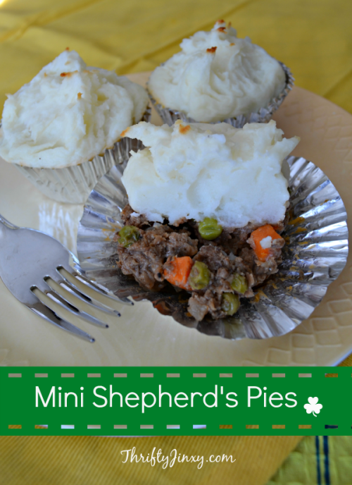 Mini Shepherd's Pie - cooked in a muffin tin! from thriftyjinxy.com