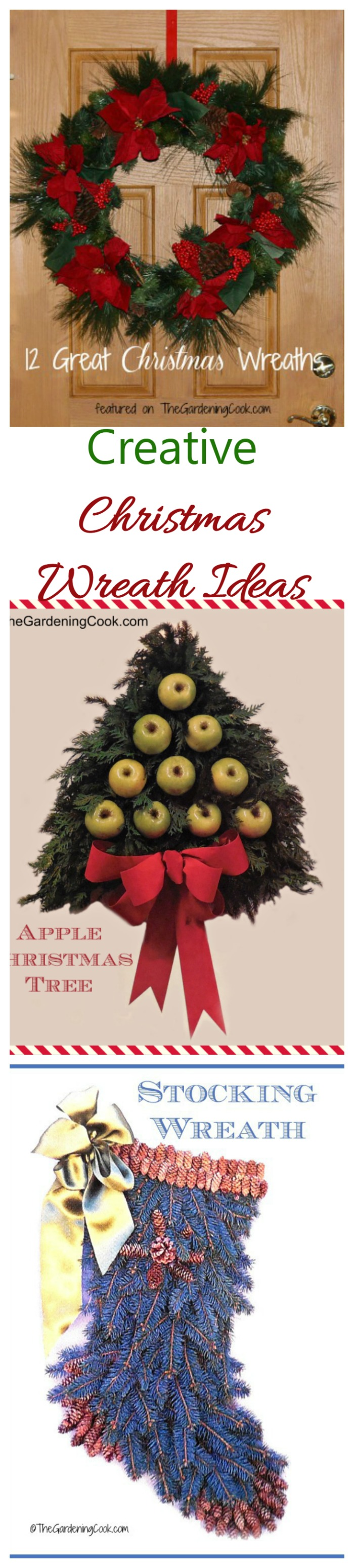 These creative wreath ideas will welcome guests to your home in style. See many more ideas on thegardeningcook.com