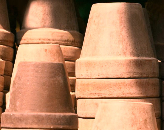 Clean Clay pots