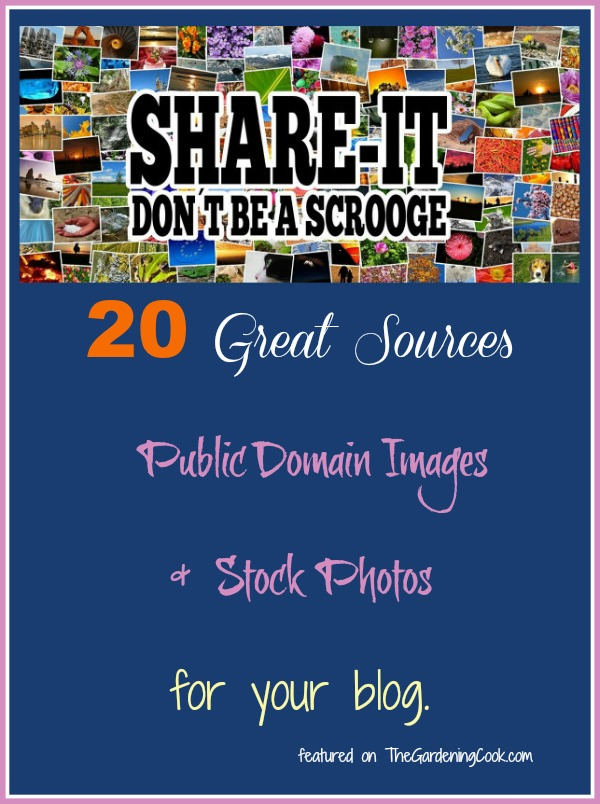 20 free sites  for Public domain images and stock photos for your blog.