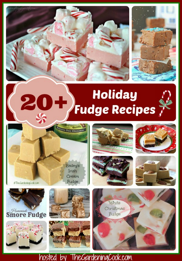 Over 20 delicious holiday fudge reipes - hosted by thegardeningcook.com