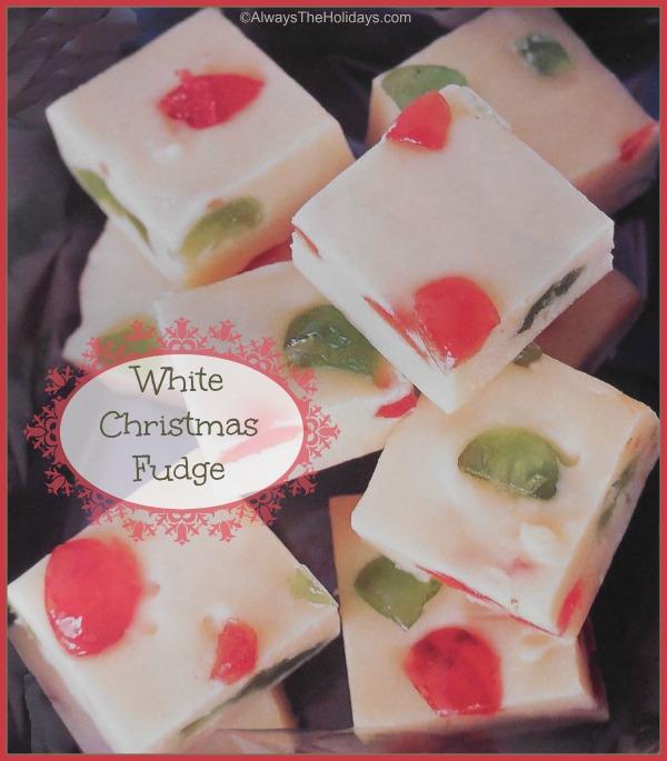 White Chocolate Mosaic Fudge