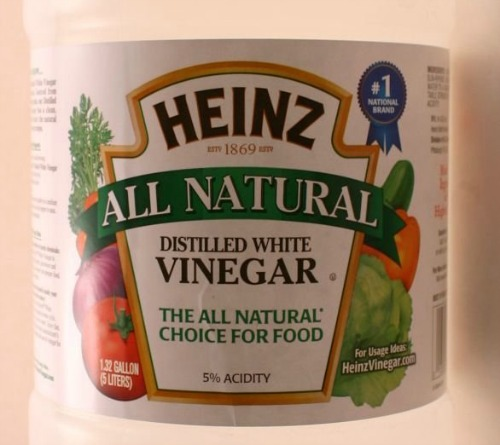 5% acidic white vinegar