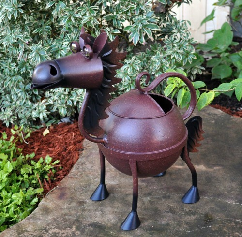 Garden gift guide idea - horse metal watering can