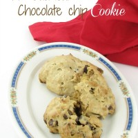 Gluten Free peanut butter oatmeal chocolate chip cookie