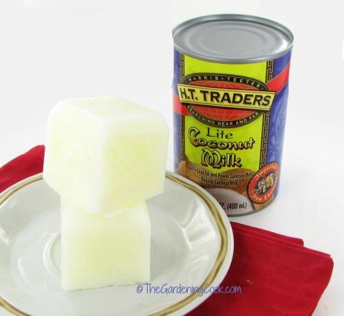frozen coconut milk cubes