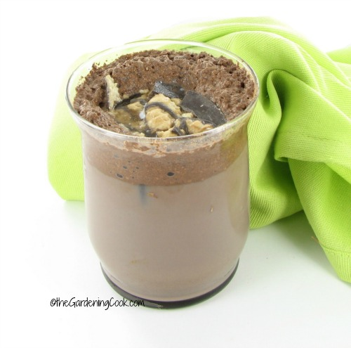 Cookies and cream coffee flavored chocolate milk