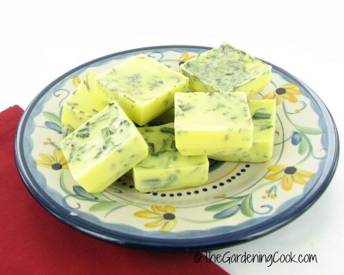freeze fresh herbs in olive oil