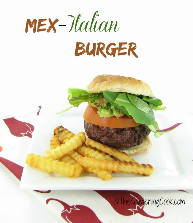 It's grill time with a Mex Italian Burger. Get the recipe thegardeningcook.com/mex-italian-burger