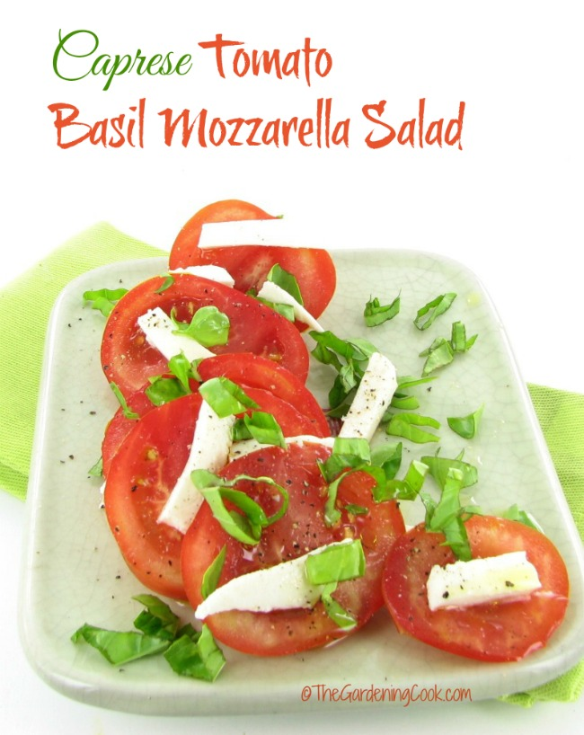 This Caprese Tomato Basil Mozzarella Salad is easy to make and perfect for a light lunch or side dish.